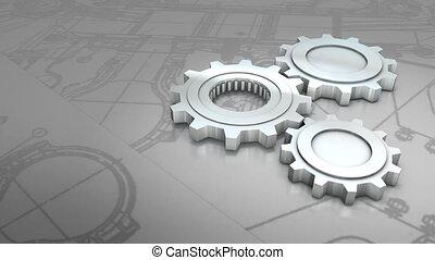 Mechanical engineering background animation.