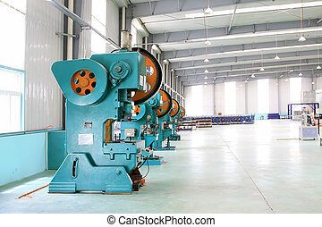mechanical equipment in a production workshop