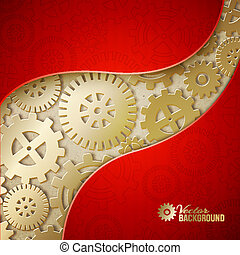 Mechanical gears background. Vector illustration