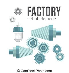 Mechanical gears set of elements - Mechanical gears, set of...