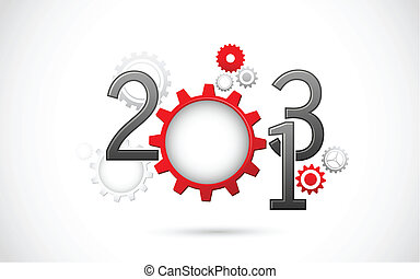 Mechanical Happy New Year
