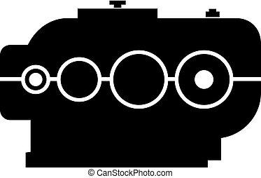 Mechanical industrial gearbox - Vector