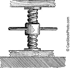 Mechanical Jack, vintage engraving