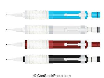 Mechanical pencils.