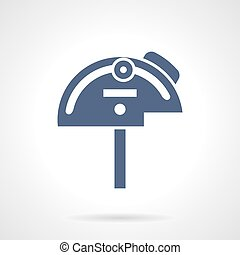 Mechanical protractor glyph style vector icon - Tools and...