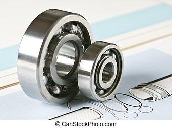 bearing - mechanical scheme and  bearing
