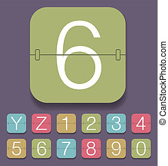 Mechanical Scoreboard Alphabet