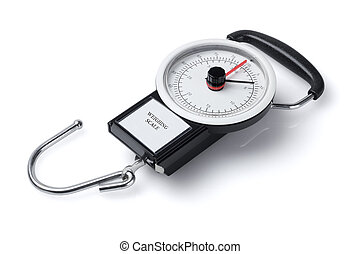 Spring Scale - Mechanical Spring Scale Lying On White ...