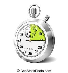 Mechanical stopwatch - Vector illustration of a mechanical ...
