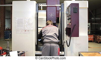 mechanical technician operative of cnc milling cutting...