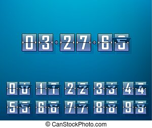 Mechanical time timer, set of digits.