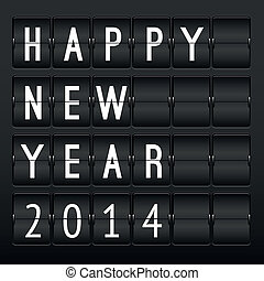 Mechanical timetable, happy New Year 2014