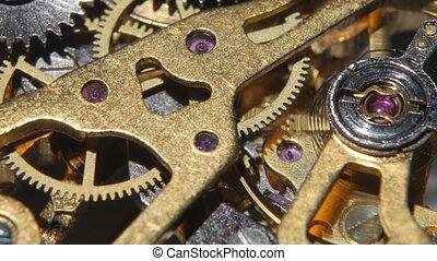 Mechanical watch. Close up