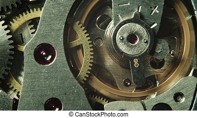 Mechanical watch movement - Macro shot of mechanical watch...
