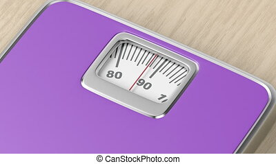 Measuring weight with mechanical weighing scale