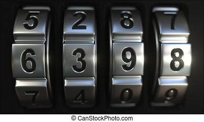 Mechanichal code lock rings reveal 2019 numbers. New Year...