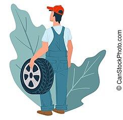 Mechanics services and tyre vehicle maintenance - Tyre shop ...