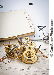 mechaniczny, mechanizmy, zegar