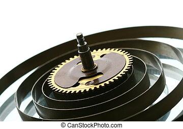 mechaniczny, przybory, zegar