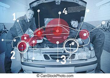 mechanika, autó, vonzalom