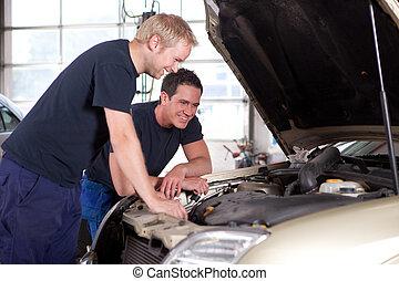 mechanika, auto, sklep, naprawa