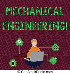 mechanika, kobieta, pojęcie, podłoga, techniczny, tekst, laptop, posiedzenie, icons., zastosowanie, treść, przemysłowy, krzyżowany, pismo, engineering., mechaniczny, nogi, zainteresowany, czytanie dla przyjemności