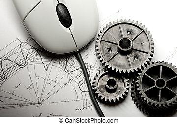 mechanikai, ratchets, egér, megfogalmazás