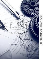 mechanisch, ratchets, dividers, en, opstellen