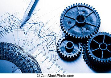 mechanisch, ratchets, en, opstellen