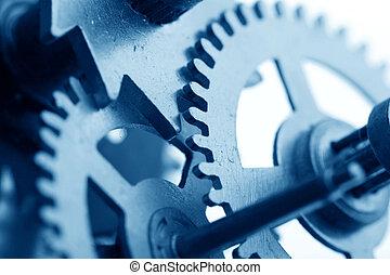 mechanisch, tandwiel, klok