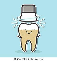 mechanisch, teeth, whitening, concept.