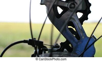 mechanism bike closeup
