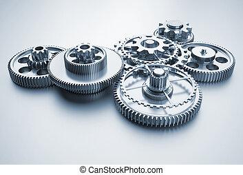 Mechanism - Gear mechanism - this is a 3d render...