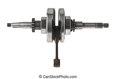 mechanism isolated on a white background closeup