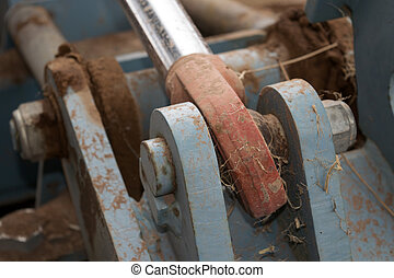mechanism of a tractor - detail of a mechanism of the motor...