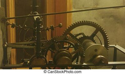 Mechanism of an old clock.