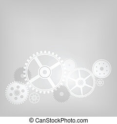 Mechanism on Grey Gradient Background. Vector Illustration....