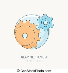 Mechanism with two gears