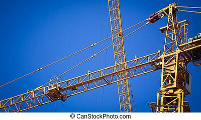 mechanisme, gebouw kraan