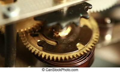 Mechanismthe old alarm clock.