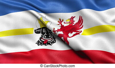Mecklenburg state flag loop