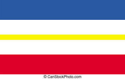 mecklenburg western pomerania flag germany country region computer generated