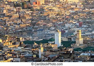 mecset, fénykép, marokkó, háttér, fes