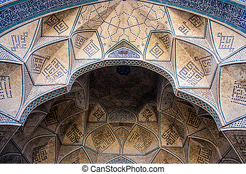 mecset, jameh, irán, részletez, isfahan