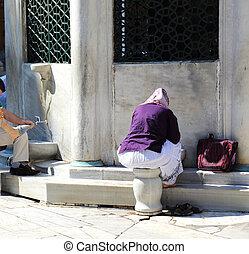 meczet, fontanna, istambuł