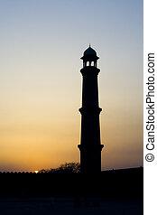 meczet, sylwetka, minaret