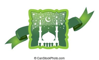 meczet, wektor, gwiazda