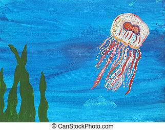 medúza, festmény