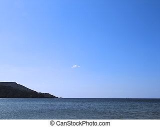 Med Horizon - Scenery of Mediterranean ocean, with crisp...