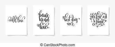 med, kärlek, fred, och, kärlek, bäst, dag, någonsin, vår,...